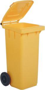 TAV 4678 Portarifiuti polietilene giallo 2 ruote 120 litri