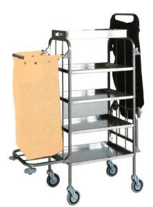 TCA 1525 Carrello portabiancheria pulizia multiuso in acciaio inox 4 piani