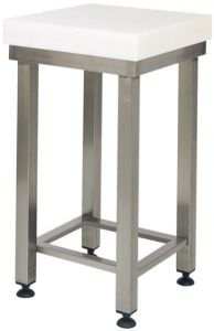 CCP8001 Ceppo polietilene 8cm con sgabello inox 50x50x88h