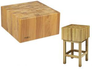 CCL2566 Ceppo legno 25cm con sgabello 60x60x90h