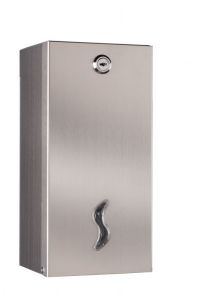 T105028 Distributore carta igienica interfogliata doppio acciaio inox AISI 304 satinato