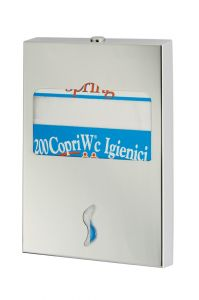 T105052 AISI 304 brushed s. steel Toilet seat cover dispenser