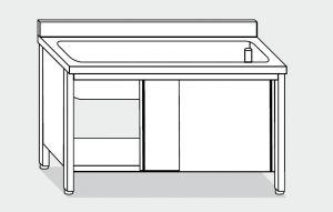 EU01720-12 lavapentole armadio ECO cm 120x70x85h  tutta vasca - porte scorrevoli