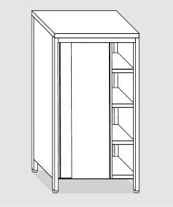 EU04308-15 armadio verticale ECO cm 150x70x180h porte scorrevoli - 3 ripiani regolabili