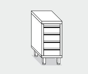EU05536-04 cassettiera c4 ECO cm 40x60x85h piano liscio