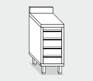 EU05546-04 cassettiera c4 ECO cm 40x60x85h piano alzatina