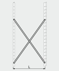 EU77009-07 crocera per scaffale ECO da cm 70