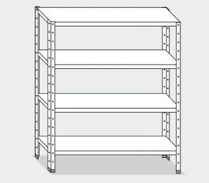 EU77263-14 scaffale con 4 ripiani lisci ECO cm 140x30x180h