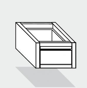 EUG2073-47 cassetto singolo ECO e40 cm 40x70x25hsotto tavolo guide inox semplici