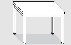 EUG2108-06 tavolo su gambe ECO cm 60x80x85h-piano liscio