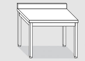 EUG2116-13 tavolo su gambe ECO cm 130x60x85h-piano con alzatina