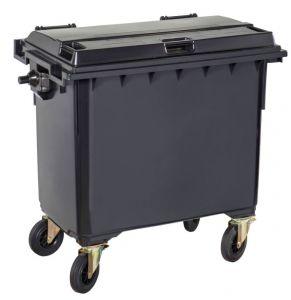 T766640 Contenitore rifiuti da esterno 4 ruote 660 litri GRIGIO