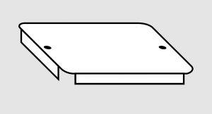 EU91010-01 Coperchio per vasca in acciaio inox dim. 33x33