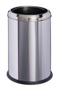 T906701 Papelera cilíndrica acero inox 8 litros