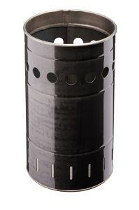 T778032 Gettacarte cilindrico in ferro laminato da esterno 35 litri