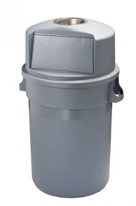 T114120 Grey plastic Push bin 120 liters