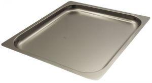 FNC2/3P040 Teglia  Gastronorm 2/3 h40 in acciaio inox AISI 304 bordo piano