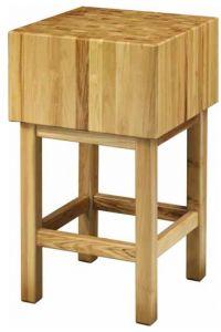 CCL3586 Ceppo legno 35cm con sgabello 80x60x90h
