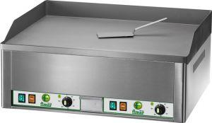 FRY2L Plancha eléctrica trifásica de encimera 6000W de doble plano de acero liso