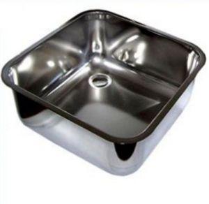 LV45/45/30 Vasca di lavaggio in acciaio inox dim. 450x450x300h a saldare