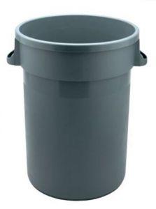 T114105 Grey bin 80 lt