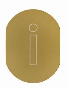 T719930 Targhetta alluminio dorato INFORMAZIONI