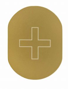 T719938 Targhetta alluminio dorato INFERMERIA