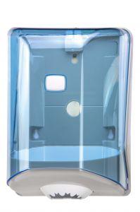 T908124 Distributore di carta in bobina a srotolamento centrale ABS blu