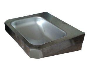"""LX1360 Lavabo rettangolare """"Chigi""""con mensole in acciaio inox 500x445x133 mm -SATINATO -"""