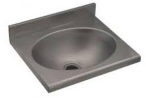 LX1430 Lavamani per mensole c/spallina in acciaio inox 400x350x120 mm -SATINATO-