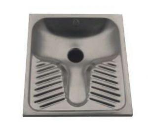 LX2050 WC alla turca in acciaio inox 590x670x160 mm - INCASSO -