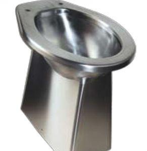 Asiento de inodoro montado en el piso de acero inoxidable LX3140530x360x500 mm