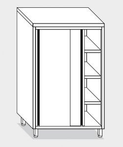 14204.14 Armadio verticale g40 cm 140x60x160h porte scorrevoli - 3 ripiani interni regolabili