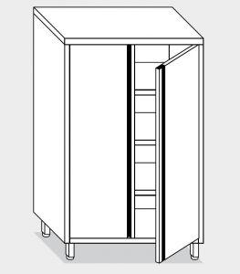 14303.12 Armadio verticale g40 cm 120x70x200h porte a battente - 3 ripiani interni regolabili