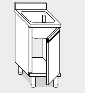 21600.07 Lavatoio armadio  agi cm 70x60x85h 1 vasca - porte battenti