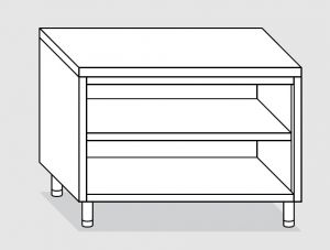 23000.20 Tavolo armadio a giorno agi cm 200x60x85h piano liscio - ripiano intermedio e di fondo