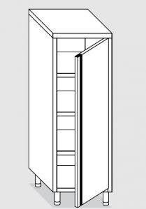 24201.06 Armadio verticale agi cm 60x60x200h porta a battente - 3 ripiani interni regolabili