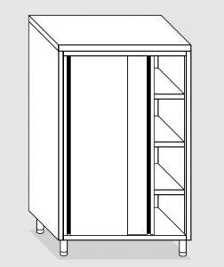24205.20 Armadio verticale agi cm 200x60x200h porte scorrevoli - 3 ripiani interni regolabili