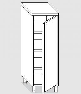 24300.05 Armadio verticale agi cm 50x70x160h porta a battente - 3 ripiani interni regolabili