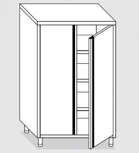 24302.08 Armadio verticale agi cm 80x70x160h porte a battente - 3 ripiani interni regolabili