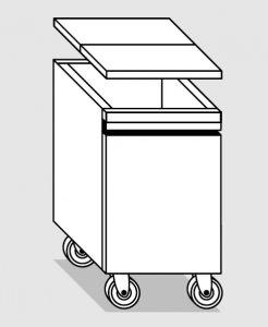 28055.78 Tramoggia carrellata semplice da cm 45x55x76h completa di coperchio