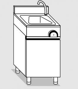 29030.05 Lavamani su armadio p/battenti agi cm 50x40x85h con: - erogatore - comando a ginocchio