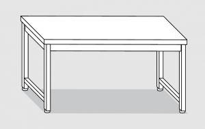 30000.22 Tavolo su 4 gambe past cm 220x80x85h piano liscio-senza ripiano inferiore